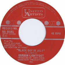 Gordon Lightfoot &middot Black Day in July / Pussywillows, Cat-Tails - 7