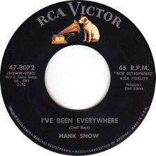 Hank Snow -- Ancient History / I've Been Everywhere - 7