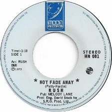 Rush -- Not Fade Away / You Can't Fight It - 7