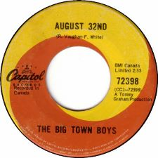 The Big Town Boys -- August 32nd / My Babe - 7