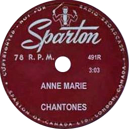 The Chantones -- Storm in My Heart / Anne Marie - 78 rpm