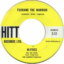 The Hi-Fives -- Fujikami the Warrior / Mo-Shun - 7