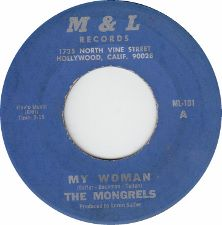 The Mongrels -- My Woman / Sitting in the Station - 7