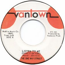 The One Way Street &middot Listen to Me (Bring It on Home) / Tears - 7